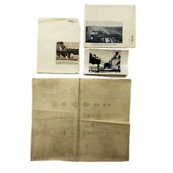 Wwii Rare 1943 And039restrictedand039 Hms King George V Repairs Blueprint Operation Husky