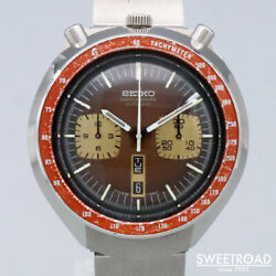 Seiko 6138-0040 Day Date Chronograph Vinatge Automatic Mens Watch Auth Works