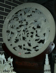 28 China 100 Afghan Jade Stone Carving Fengshui Dragon Phoenix Blessing Statue