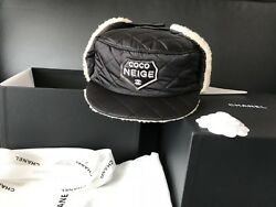 Bnib 100auth 2018 Coco Neige Collection Black Quilted Hat Small Sold Out