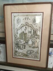 Michoel Muchnik Chabad Lithograph  Before Shabbat Signed Numbered Ap 24 / 40