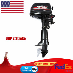 6 Hp 2stroke Outboard Motor Fishing Boat Engine With Water Cooling Cdi 102cc Usa