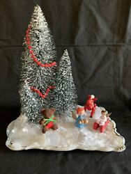 Vintage To Now Christmas Decor Toy Ornaments, Platter, Bottle Brush Trees Beads