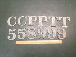 Lot Of 12 Vintage Bronze 3 Sign House Boat Letters And Numbers