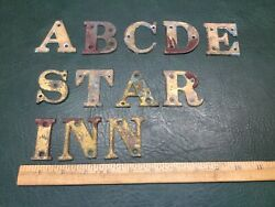 Lot Of 12 Vintage Bronze / Brass Letters Alphabet Display Sign 2 Tall