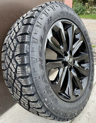 Genuine Range Rover 502 20 Black Alloy Wheels And Good Year Duratrac Tyres X4