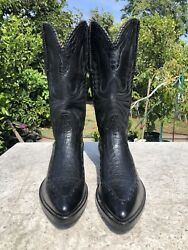 Stallion Boot Co Belly Alligator With Leather Foot Part 10.5 D Black