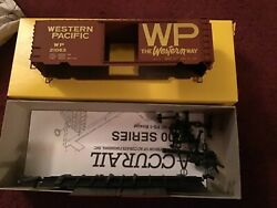 Accurail Ho Scale Western Pacific 40' Boxcar 1538 Brand New Free Ship