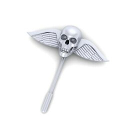 Skull And Wings Lapel Pin Sterling Silver Skull Lapel Pin Gothic Skull Jewelry