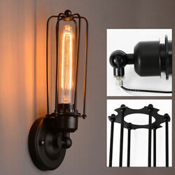 220V Industrial Retro Antique Lantern Wall Lamp Sconce Light Cage Lamp Hall Lamp