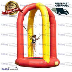 16ft Inflatable Soft Bungee Jumping Trampoline Sport Bounce Game With Air Pump