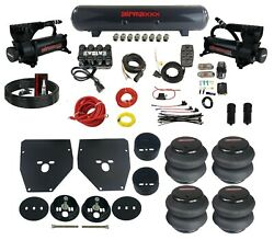 Complete Air Ride Suspension Kit For 63-72 C10 3/8 Manifold Bags Brackets And Tank