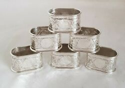 Antique Egyptian Silver Napkin Rings. Cairo .900 Standard. Dated 1942..1943