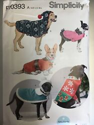 Simplicity Pattern - R10393 A U.s. Size S-l Dog Coats And Hats In Three Sizes