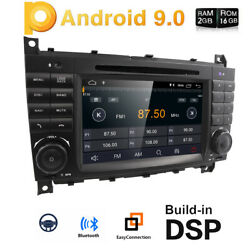 For Mercedes Benz C-w203 Clk-w209 Radio Dvd Player 7 Android Gps Nav Car Stereo
