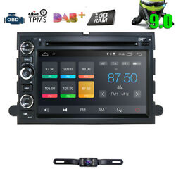 7 Android 9.0 Car Radio Navigation Stereo Dvd Gps For Ford F150 2005-2008+cam
