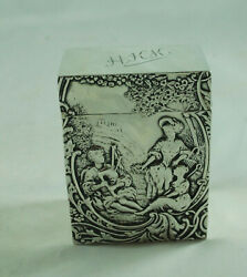 Victorian Silver Playing Card Case William Comyns London 1897 102g Aczx