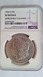 1904 S Morgan Silver Dollar Rare Date Xf Details Ngc Looks Au