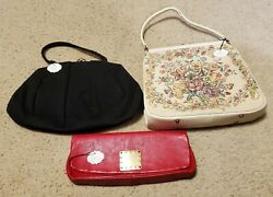 Lot Of 3 Vintage Purses JR Florida Theodore Of CA Fashions By Margolin