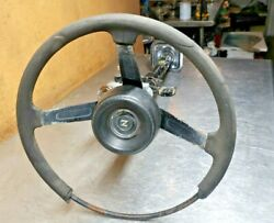 1978 Datsun 280z Steering Wheel Column Assembly W/ Horn, Ignition And Key T2 3