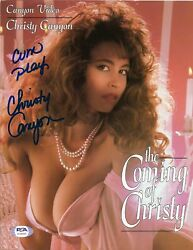 Christy Canyon Adult Film Star Signed 8.5 X 11 Poster 2 Star 90 Psa Dna Coa