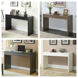 Entryway Console Table Modern Simple Display Stand Shelf Desk Multiple Colors