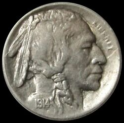 1914 S United States Buffalo Nickel Coin Extra Fine Condition