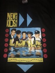 Vintage 90s New Kids On The Block Shirt MC Hammer 2 Sided USA Single Band Tour