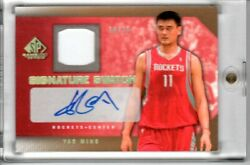 2007-08 Sp Game Used Signature Swatch Gold Yao Ming 14/15 - Short Print Gem
