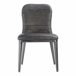 Moeand039s Home Shelton Leather Dining Chair In Black Set Of 2