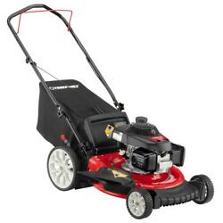 Walk Behind Push Mower 21 In. 160 Cc Honda Gas With High Rear Wheels And 3-in-1