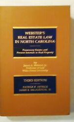 Websterand039s Real Estate Law In North Carolina - Third Edition