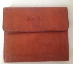 RARE VINTAGE JOHN WEITZ Wallet Tri-Fold Top Grain Cow Hide Whiskey Color $19.00