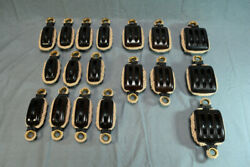 Rope Stropped Blocks For Classic Yacht Pulley Blocks Block And Tackle Lot Of 18