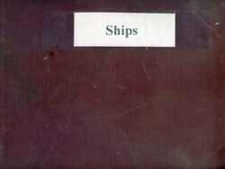 Vintage Photo Album Of 19th And 20th Century Ships And Scenes
