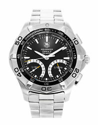 Tag Heuer Caf7010.ba0815 Aquaracer Calibre S 43 Menand039s Stainless Steel Watch