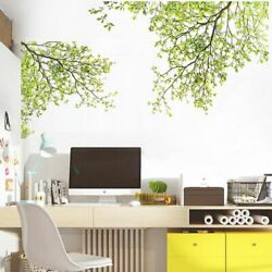 Green Tree Wall Sticker Nature Home Decor Living Room Decoration Wall Decal