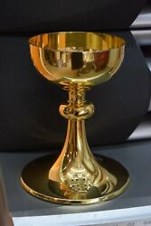Nice Antique All Sterling Silver Gorham Co. Chalice + Goldplated + Cu533