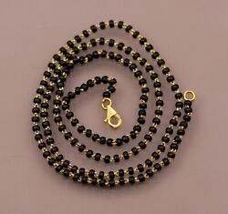 22kt Gold Chain Or Bracelet With Gorgeous Black Beads Necklace Jewelry
