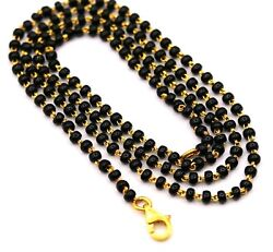 22kt Gold Chain Or Bracelet With Gorgeous Black Beads Gifting Necklace Jewelry
