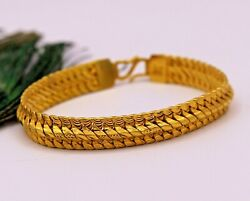 22kt Yellow Gold Handmade Excellent Chain Bracelet Handmade Gifting Jewelry