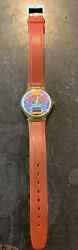 Vintage 1980's Coca Cola Wrist Watch Swiss Made Red Band Water Resistant