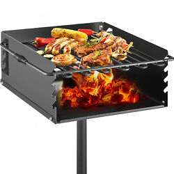 16x16 Inch Outdoor Park-style Charcoal Grill For Camping And Cookouts Bbq Acc.