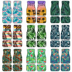 Tropical Plants Styling Car Floor Mats Carpets Back Front Rear 2/4 Pcs Protector