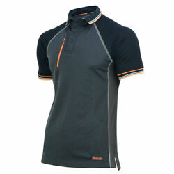 Men Workpolo Tshirt Core-active 2-tone Grey And Black Regular-fit Xxl