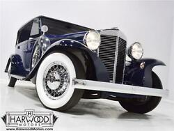 1932 Marmon Sixteen by Waterhouse  1932 Marmon Sixteen by Waterhouse  55767 Miles Blue  491 cubic inch V16 Manual