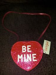NEW CAT amp; JACK Be Mine Heart Shaped Purse Crossbody Girls $8.00