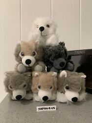 Hbo Sdcc Exclusive Game Of Thrones Stark Direwolf Wolf Cubs Plush Box Set 7.5in