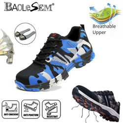 New Indestructible Safety Work Shoes Steel Toe Boots Lightweight Sneakers Mens $31.99
