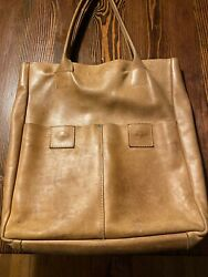 Raven & Lily  Joanna Gaines Large Leather 2 Pocket Tote  *flaw* $24.50